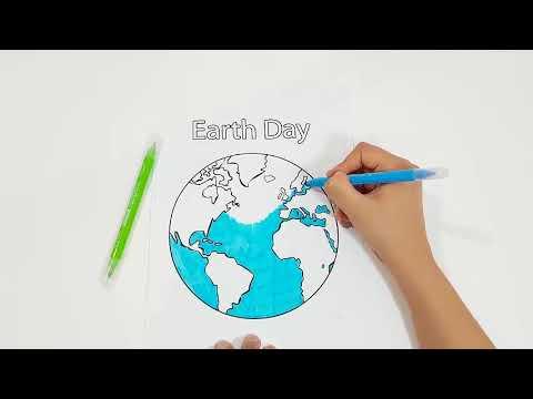 Como colorear la planeta tierra *paginas para colorear**how to draw ...