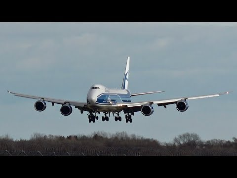 AirBridgeCargo Airlines ABC Boeing 747-867F/SCD VQ-BVR arrival at Munich Airport