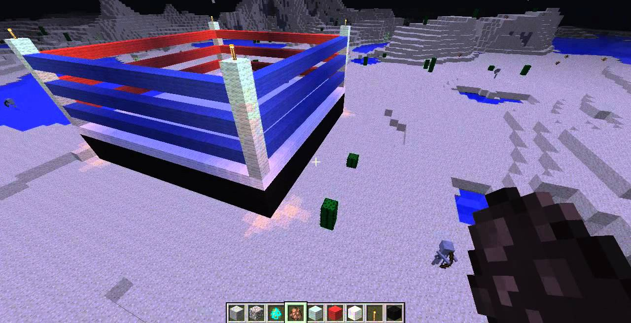 Minecraft Time To Build Ep 2 Giant Boxing Ring Youtube