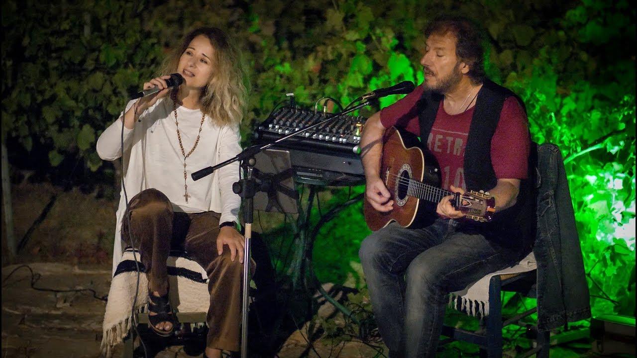 Ikaria/Ικαρία -  Olga Spanoú & Stélios Stavrákis playing at winery Afianés | Greece/Ελλάδα