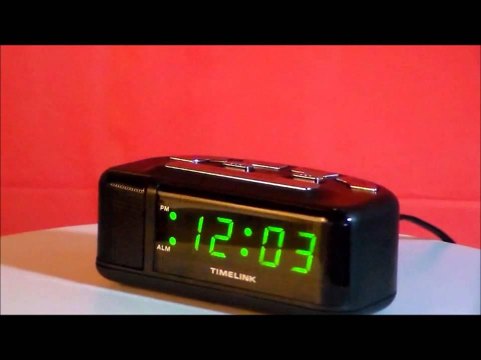 Timelink 88141 Loud Digital Led, Timelink Led Alarm Clock With Multi Color Display