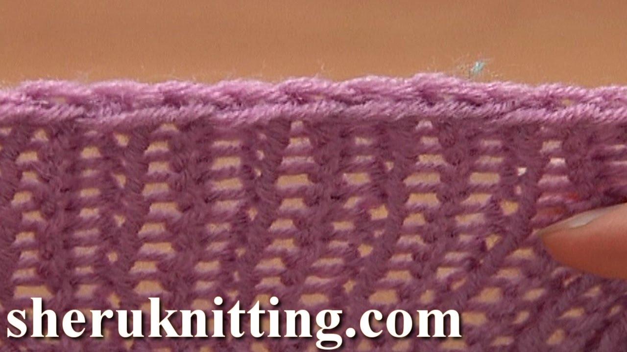 Decrease Bind off In Pattern Knit Ribbing K1 P1 Tutorial 7 Method 3 ...