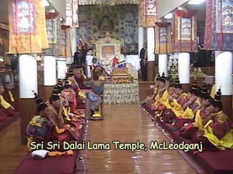 Prayer of Monks in Dalai Lama Temple McLeodganj
