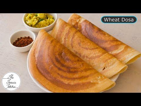 Instant Wheat Dosa Recipe   Crispy & Healthy Wheat Dosa Recipe ~ The Terrace Kitchen