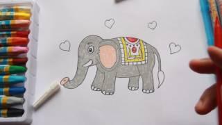 How to draw an Elephant | Astar Kids