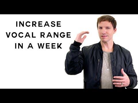 Increase Vocal Range In A Week