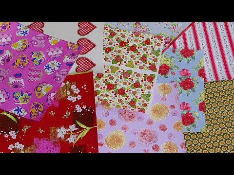 HOW TO MAKE A DECORATIVE PAPER FOR SCRAPBOOKING AND CARD MAKING / DIY DECORATIVE PAPER