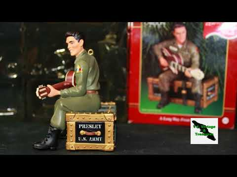 Elvis G.I Blues I'll be Home for Christmas Ornament