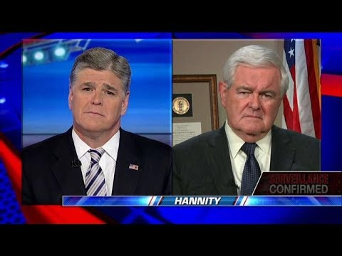 Sean Hannity & Newt Gingrich Suddenly Outraged By Govt Spying