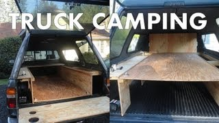 Pickup Truck Camping - Outfitting A Truck Bed And Canopy For Life On The Road