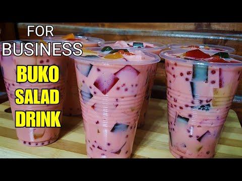 """BUKO SALAD DRINK"" For BUSINESS | How To Make Buko Jelly Salad Drink /Samalamig"
