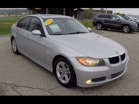 Used 2008 Bmw 328i Silver Luxury Sedan Martinsville Indiana 17867a