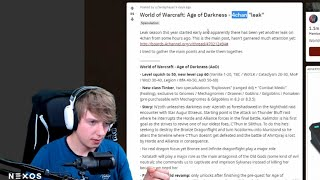 """PRZECIEK DODATKU """"Age of Darkness"""" DO WORLD OF WARCRAFT - OPINIA NEXOSA"""