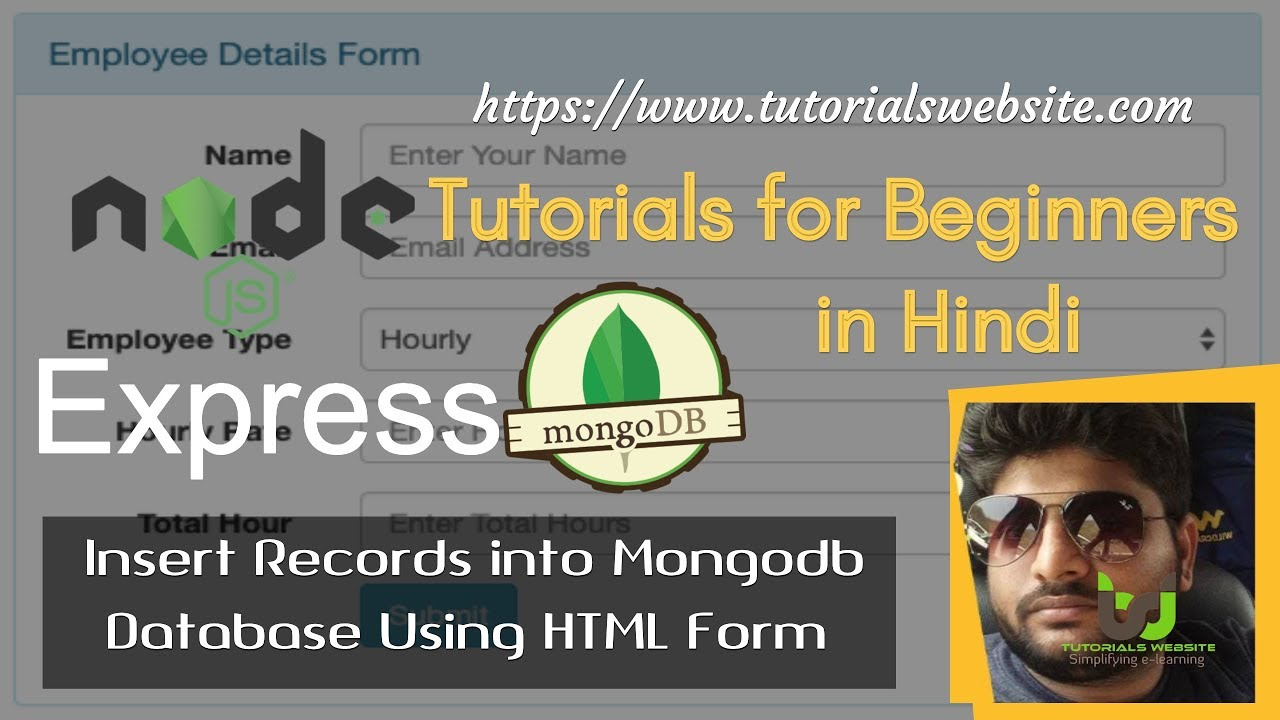 Save HTML Form Record into MongoDB Database Using Express js