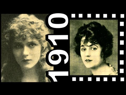 Earliest Movie Star 1910s Mary Pickford Theda Bara Lillian Gish Edwardian Hair and Clothing