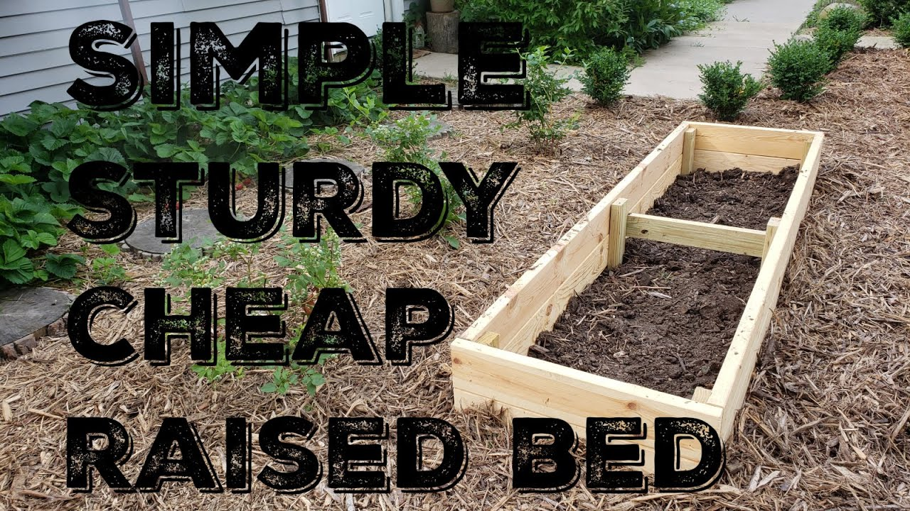 How To Build A Simple Sturdy and Inexpensive Raised Bed ...