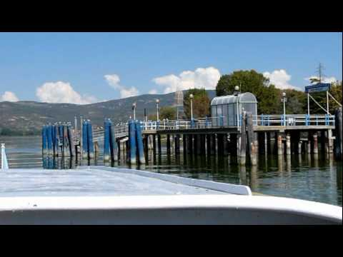 Italy Umbria Boat Trip On Lake Trasimeno Boottochtje Op Het Trasimenomeer In Italië Umbrië