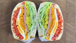 입안 가득 상큼한 파프리카 샌드위치 만들기   다이어트…