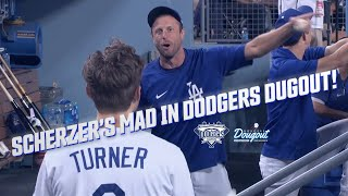 Max Scherzer Going Mąd in Dodgers Dugout After Kershaw Gets a Hit While He Remains Hitless Breakdown
