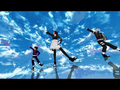 【MMD】ミナト班でshake it!【NARUTO】