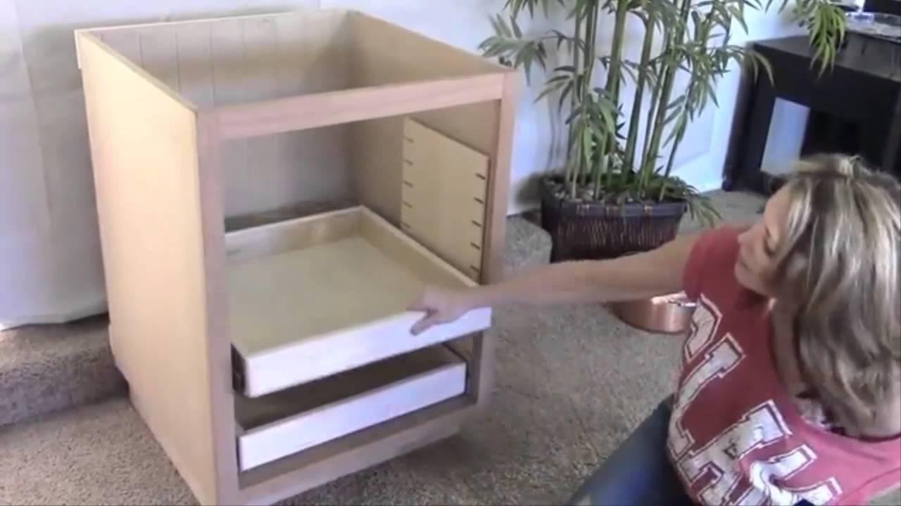 Full Extension Drawer Slides | Cabinet Drawer Slides - YouTube