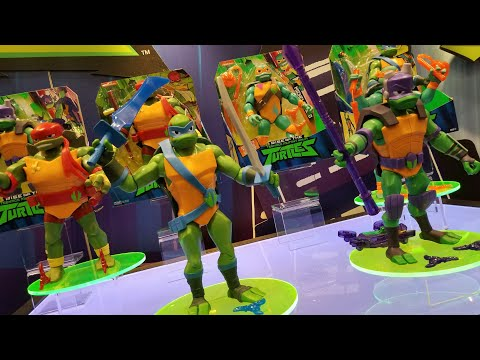 rise of the tmnt figures first look at toy fair 2018 youtube