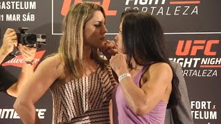 Bethe Correia vs. Marion Reneau UFC Fight Night 106 Media Day Staredown