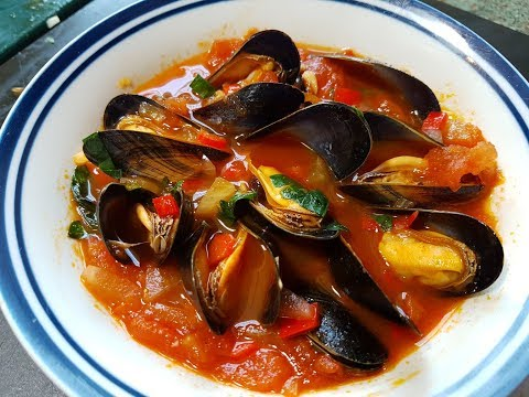 Monkstone Point Mussels In A Spicy Tomato Sauce. #SRP