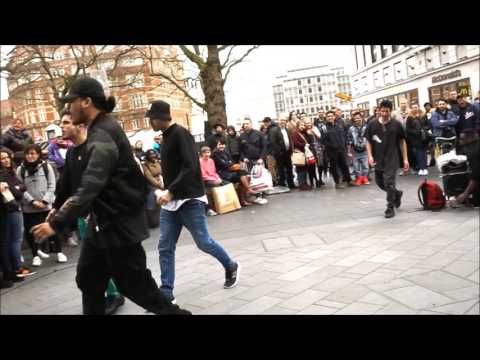 Street Dance Performance Gangnam Style Leicester Square London 05.03.2017