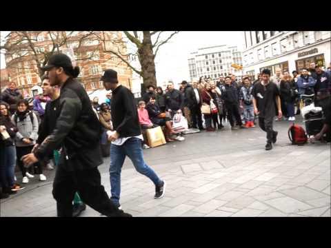 Street Dance Performance Gangnam Style Leicester Square London 05.03.2017