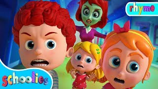 Run Schoolies Run |  Halloween Cartoon Songs For Children | Schoolies Videos