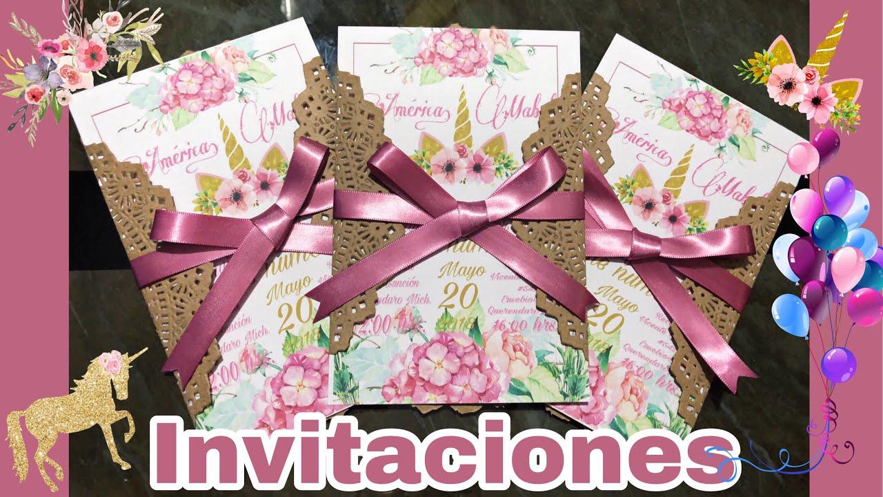 Invitaciones Para Xv Años Boda Etc Fácil Y Rápido