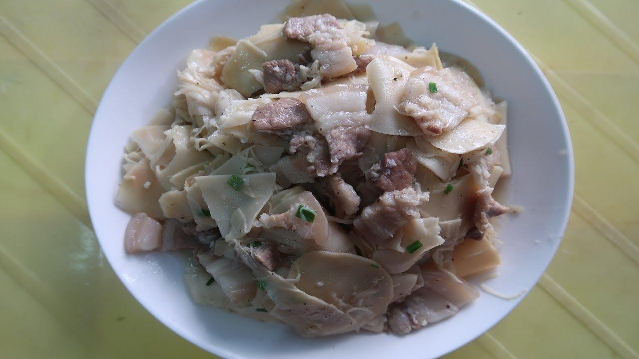 Măng tươi xào thịt ba chỉ: Món ăn chỉ có trong mùa mưa // Hà Nguyễn Thị Thanh.