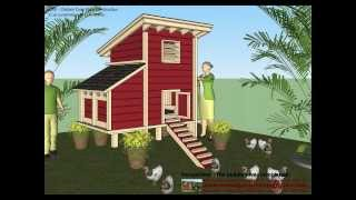 S300 - Chicken Coop Plans Construction - Chicken Coop Design - How To Build A Chicken Coop