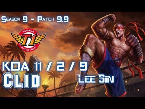 SKT T1 Clid LEE SIN vs ELISE Jungle - Patch 9.9 KR Ranked