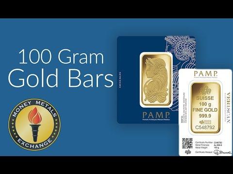 100 Gram Gold Bar | PAMP Suisse | Money Metals Exchange