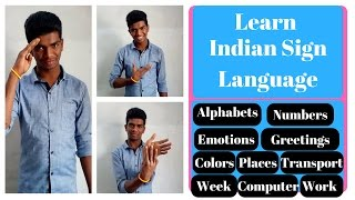 Learn Indian Sign Language basics