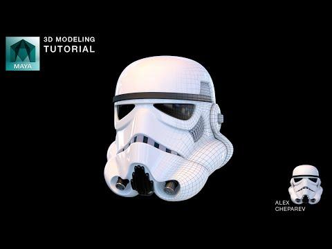 star-wars-stormtrooper-helmet-modeling-in-maya---part-1