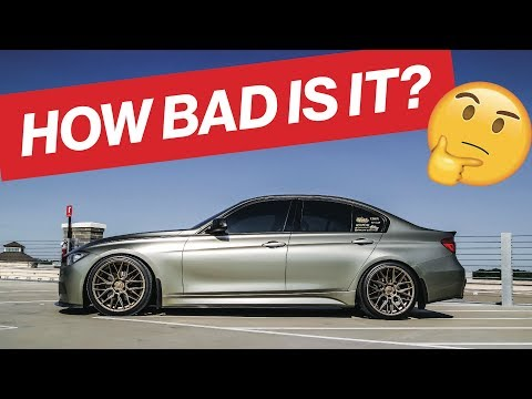 THE F30 IS BACK! HERE'S WHAT'S DAMAGED