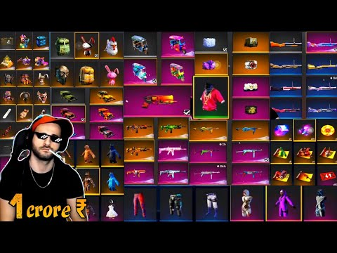 World Best Collection Of Free Fire    1 Crore ₹ Free Fire Collection