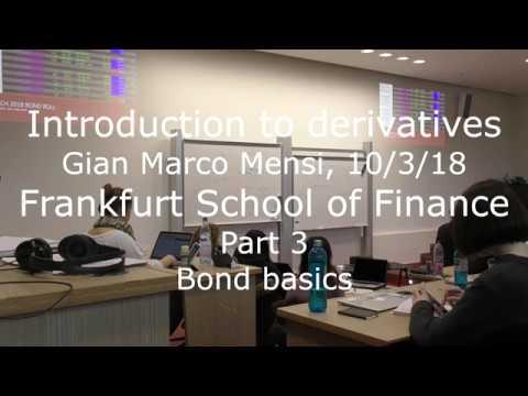 Intro to derivatives part 3 - bond basics