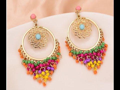 Trendy Flamenco Drop Earrings Designs || latest model earrings collections