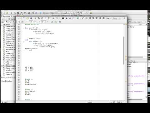 Arduino Matlab Robotic Arm Coding - YouTube