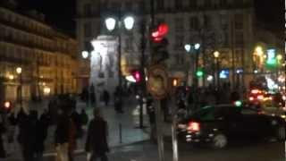 Португалия. Лиссабон ночью, район Шиадо. Ужин в кафе. Португалия