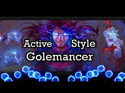 Hybrid Caster - Golemancer build guide. Storm burst. Lightning Golem - Path of Exile (3.2 Bestiary)