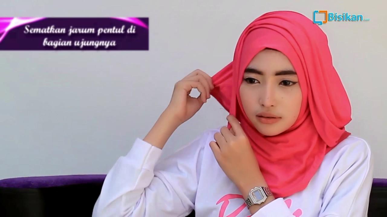 Tutorial Hijab Pashmina Spandek Wajah Bulat 2017 YouTube