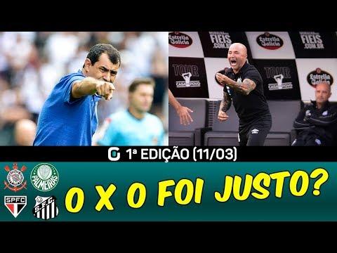 Empates de SÃO PAULO e PALMEIRAS | CORINTHIANS e SANTOS 0x0 | #GazetaEsportiva 1ª ED. (11/03/19)