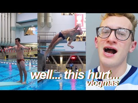 AWFUL DIVING SMACKS AT PRACTICE (Vlogmas) | Aaron Idelson Vlogs