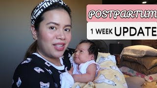 1 WEEK POSTPARTUM & BABY UPDATE!