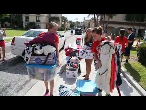 Video:The First Day Of Move-in For Palm Beach Atlantic University Students Who Live On Campus